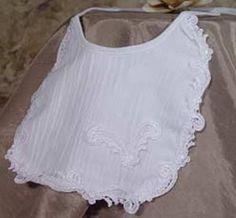Cotton Baby Girl Christening Baptism Bib White #Dressy