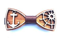 "Amazon.com: Fashion Exclusive Wooden Bow Tie ""SAILOR"", Handmade: Clothing"