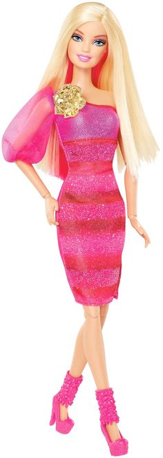 Barbie Fashionista Barbie Doll - Hot Pink Dress