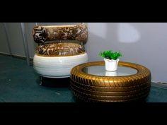Muebles Hechos Con Gomas De Autos! - YouTube
