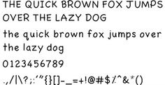 This is TaraChunk.  A far superior version of the oh so popular Comic Sans.    For both personal and commercial use. Just be sure to read the agreement. Credit must be given on all products created using these fonts.   Copyright 2015 Tara Simpson
