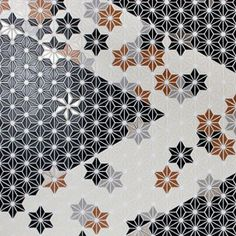 mosaic tile with customizable pinwheel pattern