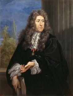 """André Le Nostre - Architetto dei giardini di Luigi XIV, ritratto eseguito da Carlo Maratta. La cravatta è a """"Punto Venezia""""."""