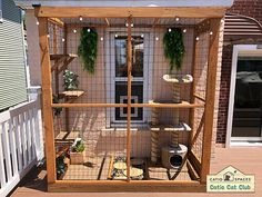 Outside Cat Enclosure, Diy Cat Enclosure, Outdoor Cats, Outdoor Cat House Diy, Cat Cages, Cat Run, Cat Playground, Animal Room, Cat Boarding