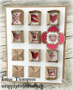 Sealed with Love stamps Teeny-tiny envelopes, stuffed with love : ) Jennie Thompson, Stampin Up Ind. Demonstrator