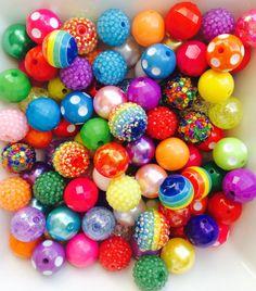 6mm Beads GUMBALL Beads Bubblegum Beads Bubble Gum Beads Bead Mix Colorful Beads Acrylic Beads Round Beads DIY Jewelry Making Supply Qty 100