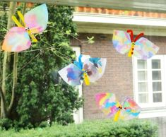 Watercolor Butterfly Coffee Filter Crafts