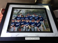 Coaches gift ideas.  I took a team photo and framed it.  I had all the boys sign it.