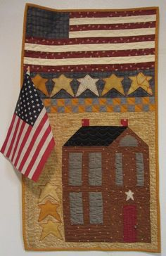 American folk quilt.....made this one years ago as a model for a quilt shop.  Donated it....