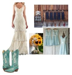 """country vow renewal"" by cowboysangel on Polyvore featuring Corral and country"