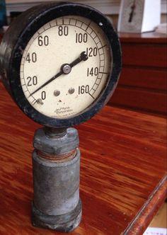 Vintage industrial steampunk GAUGE ANTIQUE by DigitalAlice on Etsy