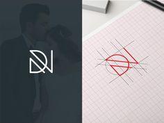25 Creative Monochrome Logos for Your Inspiration Initial Logo, Monogram Logo, Letter Logo, Logo Inspiration, Brand Identity Design, Branding Design, Logo Design, Self Branding, Corporate Branding