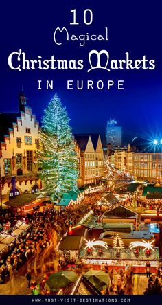 10 Magical Christmas Markets in Europe - Must Visit Destinations German Christmas Markets, Christmas Markets Europe, Christmas Travel, Magical Christmas, Holiday Travel, Winter Christmas, Christmas Vacation, Beautiful Christmas, Copenhagen Christmas Market