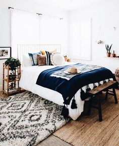 Home Interior Modern Boho bedroom decor ideas decor.Home Interior Modern Boho bedroom decor ideas decor Decor Room, Decoration Bedroom, Home Decor Bedroom, Bedroom Furniture, Bedroom Lamps, Kids Bedroom, Cozy Bedroom, Bedroom Neutral, Bedroom Bed