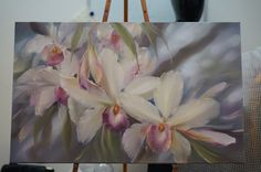 Мастер-класссы | VK Art Floral, Gato Alice, Flower Art, Art Flowers, Landscape Paintings, Oil Paintings, Orchids, Pastel, Watercolor