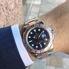 Rolex Yacht-Master Gold Watch, Rolex Watches, Clothes, Accessories, Fashion, Luxury Watches, Wristwatches, Outfits, Moda