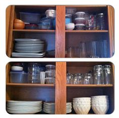 Cabinet organization {TOP: before, BOTTOM: after}