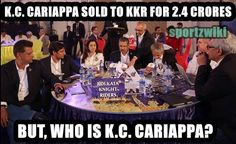 #Kishan #Cariappa (K.C. Cariappa) is the talk of the nation after he was sold for a whopping 2.4 crores INR to defending champions #Kolkata Knight Riders in the 2015 #IPL auctions.But who is he?