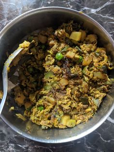 Vegetable side made of moringa flowers and potato, Granny's place
