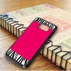 Zebra Pattern On Hot Pink Samsung Galaxy S6 Edge Plus Case