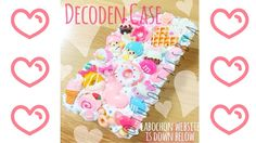 How to Decoden a Phone Case - Making of Pink and Blue Sweets Case