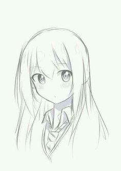 Easy drawings for beginners anime easy drawings easy drawing of a girl easy anime drawings in . easy drawings for beginners Anime Drawings Sketches, Pencil Art Drawings, Anime Sketch, Kawaii Drawings, Easy Drawings, Marinette Anime, Manga Art, Anime Art, Manga Girl Drawing