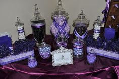 Purple Candy Buffets   Time for the Holidays