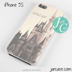 Disney Casttle Quote Phone case for iPhone 4/4s/5/5c/5s/6/6 plus