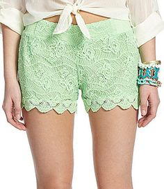 Miss Me Lace Scalloped Shorts Miss Me