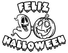 dibujos de halloween para colorear que den miedo | halloween