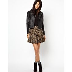 Free People cheetah print chenille skirt ♥