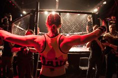 Cage Fighting matches may actually be the gentlest part of MMA Mma Girl Fighters, Kickboxing Women, Writing Portfolio, Dead Man, Esports, Night Life, Cage, Falling In Love, Joker