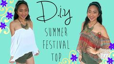 DIY off-the-shoulder Boho Top - how to make an easy pattern & sew it! Diy Clothing, Clothing Patterns, Corsage, Shirt Transformation, Diy Beauté, Diy Mode, Easy Youtube, Make Your Own Clothes, Festival Tops