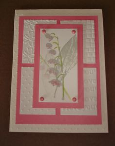 Greeting card - stamping and dry embossing