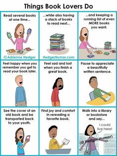 Things Book Lovers Do   Writers Write
