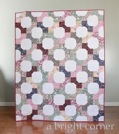 A great quilt tutorial using Liberty Lawn fabrics - and it's fat quarter friendly too! @ABrightCorner