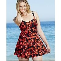 MAGISCULPT Swimdress - Longer Length-Firm Contro - Large Size Clothing and Maternity Wear - http://www.plussizedglam...