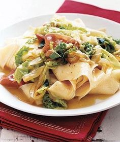 Pappardelle With Cabbage, Prosciutto, and Sage recipe from RealSimple.com