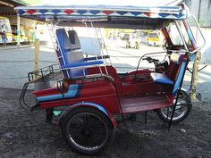 A motorized tricycle in Dumaguete City, Philippines