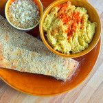 Carrot hummus and a nutty dukkah dry dip with coriander and cumin seeds. Dips, Hummus, Guacamole, Carrots, Snacks, Seeds, Ethnic Recipes, Food, Cilantro