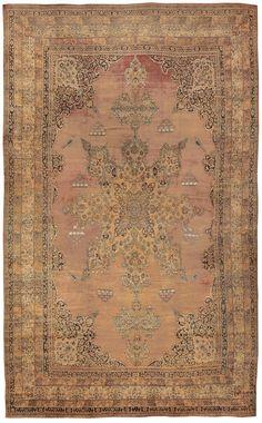 Antique Kerman Persian Rug, Country of Origin / Rug Type: Persian Rugs, Circa Date: 1900 17 ft x 27 ft 6 in (5.18 m x 8.38 m)