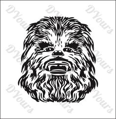 Chewbacca Star Wars Vector Model  svg cdr ai pdf eps by DYours