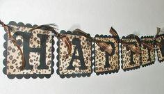 Cheetah Print Birthday Decorations | Leopard Print HAPPY BIRTHDAY Banner with cupcake by JustBeccuz Leopard Birthday Parties, Cheetah Birthday, 50th Birthday Party, Birthday Woman, Happy Birthday Banners, Birthday Ideas, Birthday Decorations, Birthday Brunch, Birthday Supplies