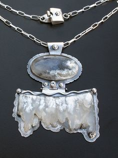 Image of Angel Wing Agate Pendant