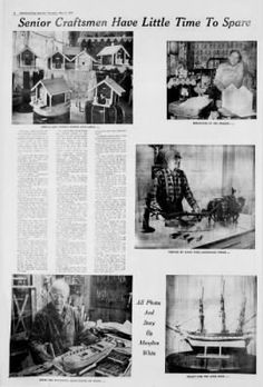 Biddeford-Saco Journal 17-May-1973 - on Newspapers.com   Includes the story of a Biddeford Pool model ship builder