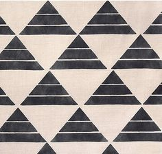 Uroko in Ink | @Zak Greant+FOX Textiles and Interiors #textiles #linen #geometric