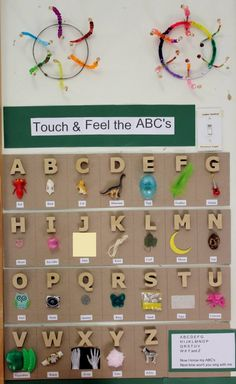 Creative alphabet activity! Touch and Feel the ABCs.
