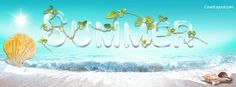 Summer Beach and Shells Facebook Cover CoverLayout.com
