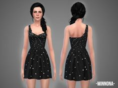The Sims Resource: Minnona - dress by April • Sims 4 Downloads