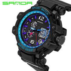 2017 New Digital-watch Sanda Sports Men Watches Outdoor Digital Watch Clock Military Army Climbing Hiking Hours Montre Femme  #Affiliate